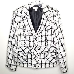 EUC Cato Black/white Tweed Blazer size L